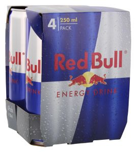 [1,00 € Pfand im Preis enthalten] Red Bull Energy Drink | 4 x 0,25 l