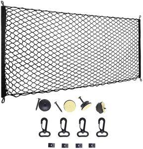 Auto Gepäcknetz, 115x60cm Elastisch Nylon Kofferraum Netz Schutznetz Trennnetz Multifunktion für Kofferraum Aufwahrung Hunde Haustier