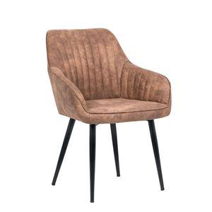 Edler Design Stuhl TURIN vintage light brown mit Armlehne Esszimmerstuhl Konferenzstuhl