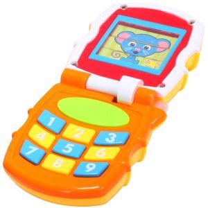MalPlay Baby Lernspaß Smart Phone Lernspielzeug | Babyspielzeug Baby erstes Handy | Licht & Sound | Babyspielzeug Lernspielzeug für Kinder ab 12 Monaten | gelb mit der Maus