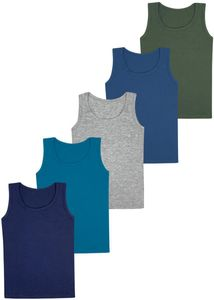 5 Jungen Unterhemden - Basics 116-122 (6-7 Jahre)