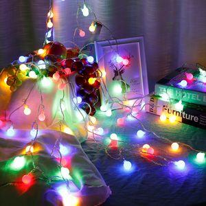 50 LED Kugel Lichterkette Garten Außen Beleuchtung Lampe Party Licht Bunt 5M