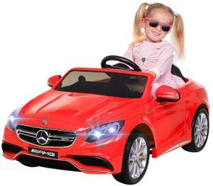 Kinder-Elektroauto Mercedes AMG S63 Lizenziert (Rot)