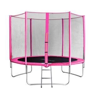 SixBros. SixJump 3,05 M Gartentrampolin Pink  Trampolin - Leiter - Sicherheitsnetz - Wetterplane - TP305/1694