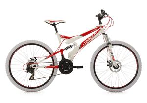 26 Fully Mountainbike 21 Gänge Topeka (weiß-rot)