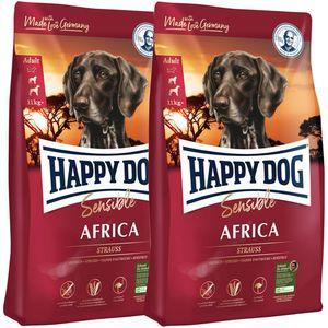 2 x 12,5 kg Happy Dog Supreme Sensible Africa
