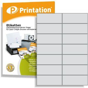 Printation Universal Etiketten zum Auszeichnen - 1400 Labels 105 x 42,4 mm selbstklebend weiß bedruckbar - 100 A4 Bogen á 2x7 Aufkleber - 3653