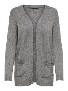 Only Damen Pullover 15174274 Medium Grey Melange