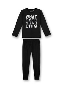 Sanetta Jungen zweiteiliger Schlafanzug mit einem grafischen WHATEVER Wordingprint - 244933