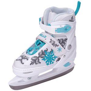 Apollo Ice Skates X-Pro - Schlittschuhe Weiß/Mint- Größe - L (39-42)