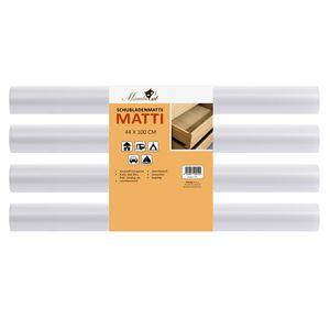Schubladenmatte Matti 4 teiliges Set | 100 x 44 cm | transparente Antirutschmatte - zuschneidbar