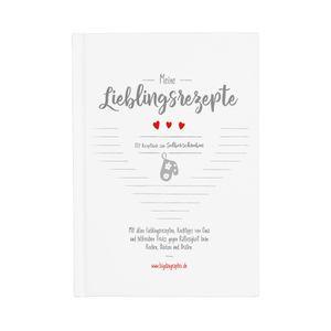 bigdaygraphix Rezeptbuch zum Selberschreiben Kochbuch DIN A5 Rezepte selbst schreiben