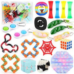 Set POP IT! Sensory Fidget Toys Set für Stressabbau Timer Autistic Stressabbau Spielzeug