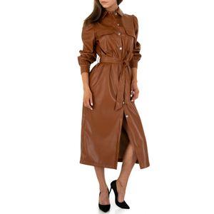 Ital-Design Damen Kleider Cocktail- & Partykleider Braun Gr.s