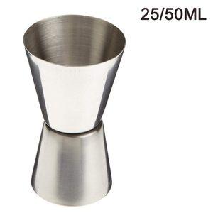 Kleiner Messbecher/Barmaß, Jigger für Cocktails, 2/4 cl, Rostfreier Edelstahl, Silber,