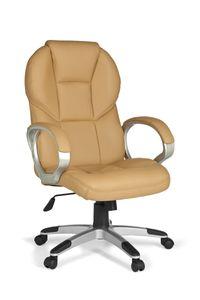AMSTYLE Bürostuhl MATERA Bezug Kunstleder Caramel Schreibtischstuhl Design Chefsessel Drehstuhl mit X-XL Polsterung