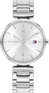 Tommy Hilfiger Damen Analog Silber/Silber Edelstahl Armbanduhr | 1782273