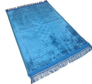 Teppich Groß Weich Gebetsteppich Sejjade Seccade Blau 120x80cm Namazlik