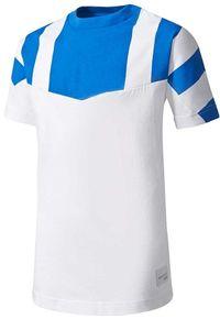 adidas J EQUIPMENT CLIMALITE TEE Sport-Shirt lässiges Kinder Freizeit-Shirt mit Climalite-Technologie Blau/Weiß , Größe:128