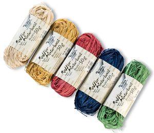 folia Raffia-Naturbast farbig sortiert 5 Bündel á 50 g