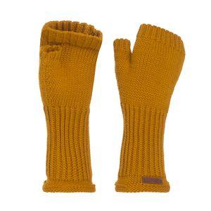 Knit Factory Cleo Handstulpen - Ocker - One Size