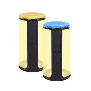 Gies Ecoline 2x Müllsackständer Blau Gelb 120 Liter stabil für alle Müllsäcke Blaue Säcke Sackhalter