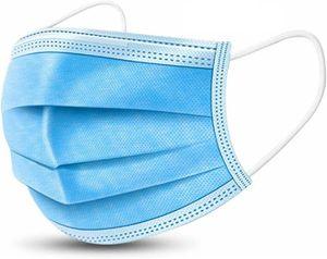 100x Mundschutz Behelfsmaske Nasenschutz Atemschutz Einwegmaske Hygieneschutz Gesichtsschutz Gesichtsmaske