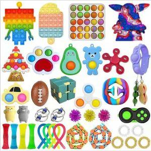 40 X Pop It Fidget Sensory Toy Set Autismus SEN ADHS Fidget Stressabbau Spielzeug