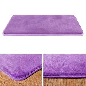 Weiche speicher schaum samt bad zimmer matte rutsch freie saugfähige teppich Farbe Lila 40x60cm