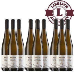 Weißwein Rheinhessen Riesling Weingut Becker Spätlese Barrique lieblich (9 x 0,75 l)