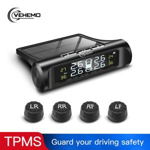 Alarmsysteme Reifendruckalarm NEU 4PCS Sensor TPMS Auto Auto Solar Power USB