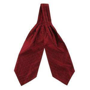 Herren Polka Dot Ascot Krawatte Jacquard Woven Silk Cravat Fashion Formal Krawatte rot wie beschrieben