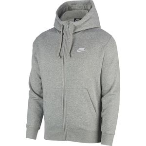 Nike M Nsw Club Hoodie Fz Bb Dk Grey Heather/Matte Silv M
