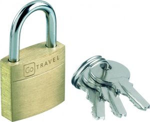 GO Travel Kofferschloss Messing, Doppelpack
