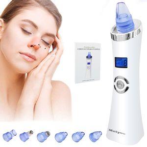 Hikeren Gesichtsreiniger,Mitesser Entferner,6 in 1 Standable USB  MIt LED Display - Blau,Gründliche Reinigung