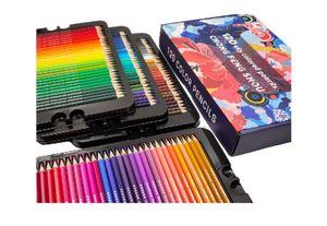 120 Aquarell Buntstifte Set, Zeichnen Bleistifte Art Set für professionelle Farbmischung Malen und Skizzen, weiche wachsbasierte Holzfarbstifte perfekt für Schüler Kinder Malbücher