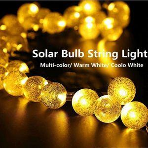 Warmweiss LED Au?en-Lichterkette Solar Outdoor 6.5 Meter 30 Lampions IP44 Wasserfest Deko Solar Akkubetrieben Garten Terrasse Balkon Solar Licht Lampe