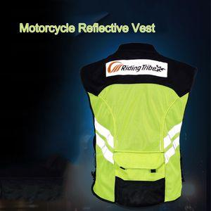 Sport Motorrad Reflektierende Weste Hohe Sichtbarkeit Fluoreszierend Reiten Sicherheitsweste Racing aermellose Jacke Moto Gear (L) Sports Motorcycle Reflective Vest High Visibility Fluorescent Riding Safety Vest Racing Sleeveless Jacket Moto Gear (L)