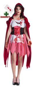 Horror Kostüm blutiges Rotkäppchen Mundschutz Maske Mund Nasen Schutz Größe: 36-38