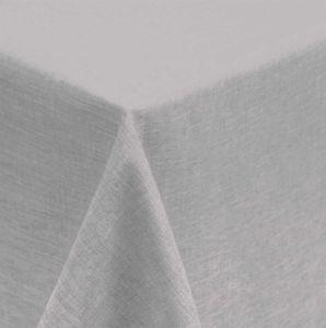 Tischdecke 130x160 cm silber eckig Leinenoptik wasserabweisend beschichtet