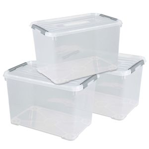 CURVER_3-er Set HANDY+ Box 65L transparent_240682