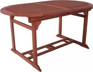 Gartentisch ausziehbar EukalyptusHolz, geölt