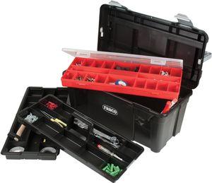 raaco Werkzeugkoffer Breite 580 x Höhe 285 x Tiefe 290mm aus Polypropylen mit Schnappverschluss schwarz / silber - 715195