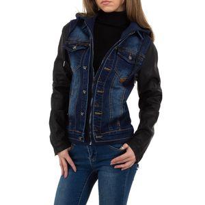 Ital-Design Damen Jacken Jeansjacken Blau Gr.4Xl
