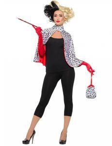 Damen Kostüm böse Dalmatiner Madame Karneval Fasching