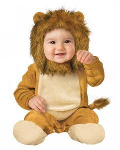 Kuschliger Plüsch Löwe Babykostüm für Karneval Größe: L