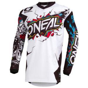O'Neal ELEMENT Youth Kinder Jersey VILLAIN Langarm-Shirt, Farbe:white, Größe:M