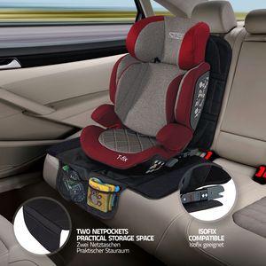LCP Kids 2er Set Auto Sitzschutz Kindersitzunterlage Kindersitzauflage 130x48 cm
