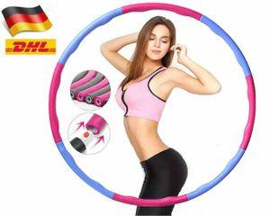 Hula Hoop Schaumstoff Kinder weiblich Fitnessreifen Bauchtrainer & Hula Hoops  Schnelle Lieferung Rosa+Blau