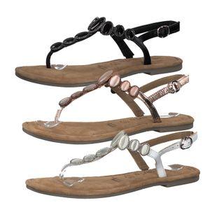 Tamaris 1-28063-34 Damen Sandalen Zehentrenner Sandaletten Zehensteg, Größe:41 EU, Farbe:Schwarz